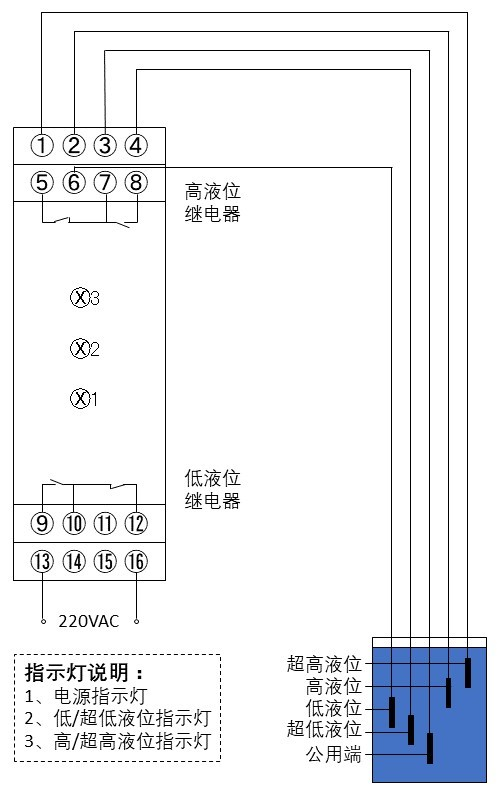 电极式液位控制器电路图